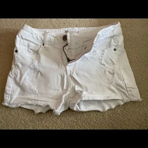 RSQ white girls jeans shorts